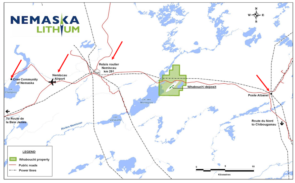 Nemaska Lithium Discovers New Lithium-Bearing Zone at Whabouchi