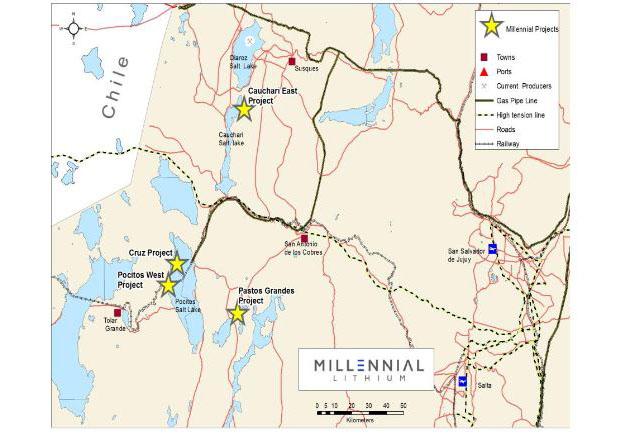 Millennial Lithium's Exploration Progressing Rapidly in the Lithium Triangle