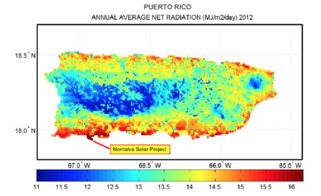 Puerto Rico Average Net Radiation