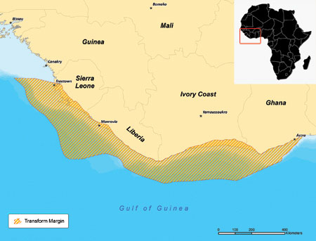 west africa transform margin