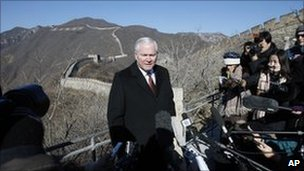 robert gates china