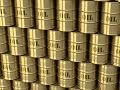 oil barrels gold